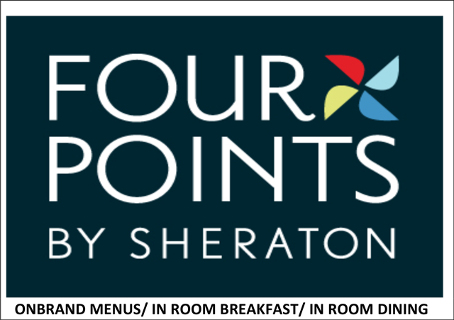 Four Points by Sheraton hotels on brand menus, inroom, dining, breakfast